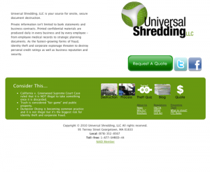 universal shredding document destruction